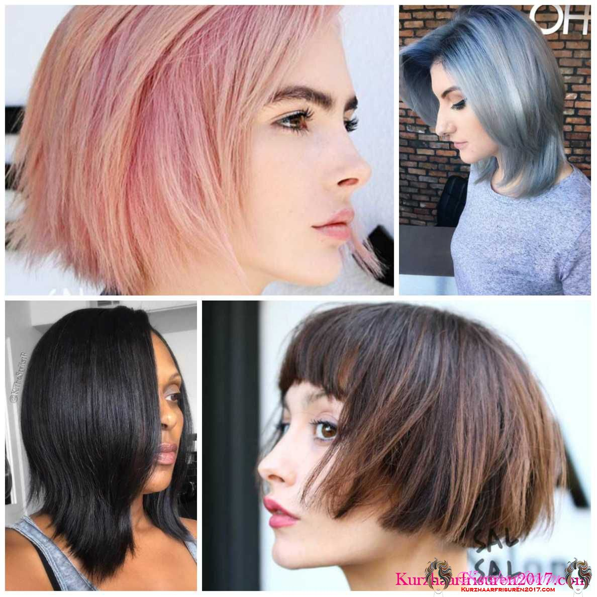 kurzhaarfrisuren 2018 haarfarben trends